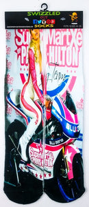 Pink Paris Hilton Motorcycle design Socks