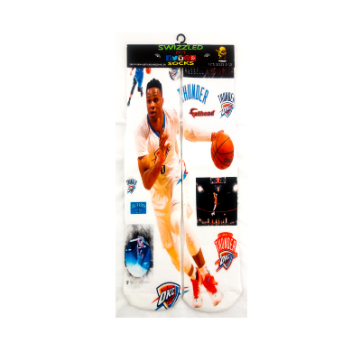 SWIZZLED OUT SOCKS SOCK Russell Westbrook NBA All Star Socks