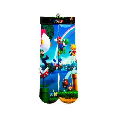 SWIZZLED OUT SOCKS SOCK Super Mario Brothers Characters Sock