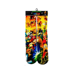 SWIZZLED OUT SOCKS SOCK Super Mario Smash Brothers Socks