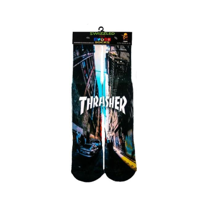 SWIZZLED OUT SOCKS SOCK Thrasher Skateboarding Socks