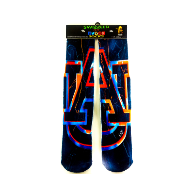 SWIZZLED OUT SOCKS SOCK University of Auburn Tigers Socks