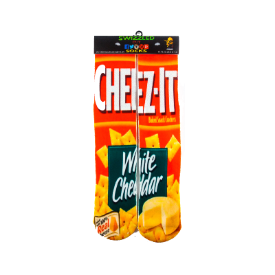 SWIZZLED OUT SOCKS SOCK White Cheddar Cheez-It chips Socks
