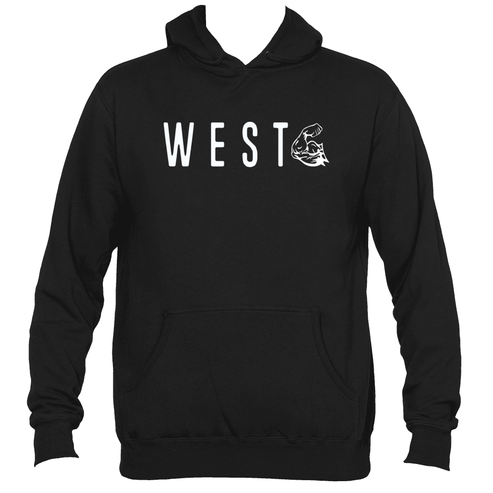 WEST COAST MUSCLE CARDINAL DIRECTION HOODIE