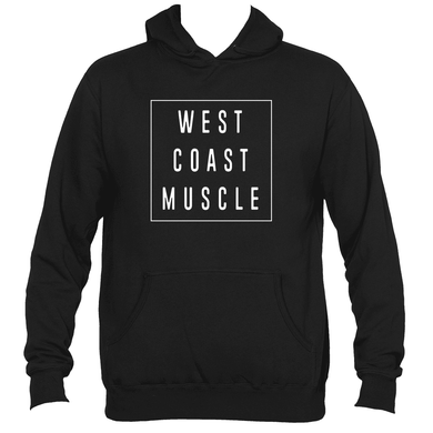 WEST COAST MUSCLE SQUARE ONE PULLOVER HOODIE