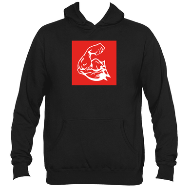 WEST COAST MUSCLE BIG RED PULLOVER HOODIE