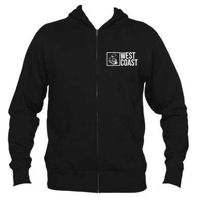 WEST COAST MUSCLE BENDER ZIP HOODIE