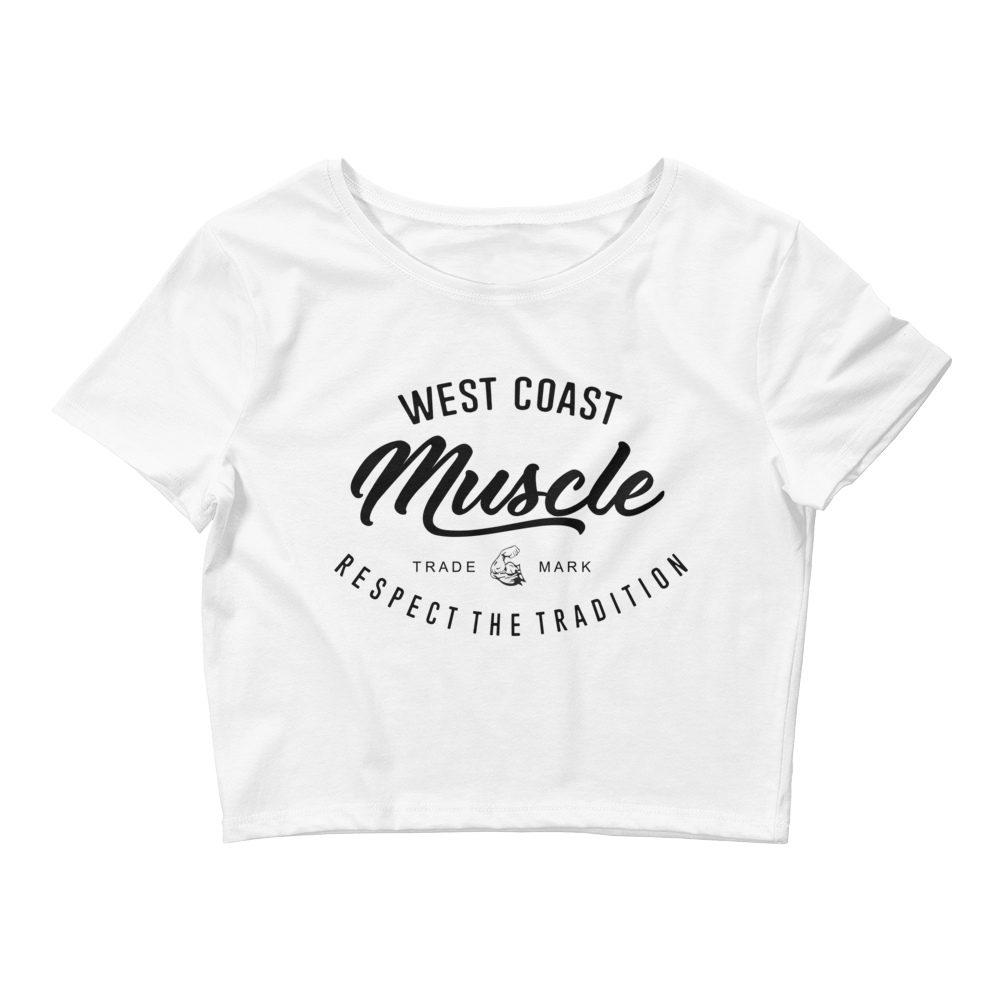 WEST COAST MUSCLE AUTHORITY CROP TOP