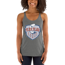West Coast Muscle Freedom Shield - Storm Edition Ladies' Racerback Tank