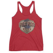 West Coast Muscle Freedom Shield - Garrison Edition Women's Racerback Tank