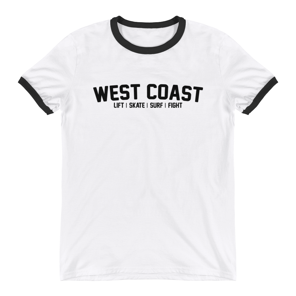 WEST COAST MUSCLE JACK OF ALL RINGER TEE