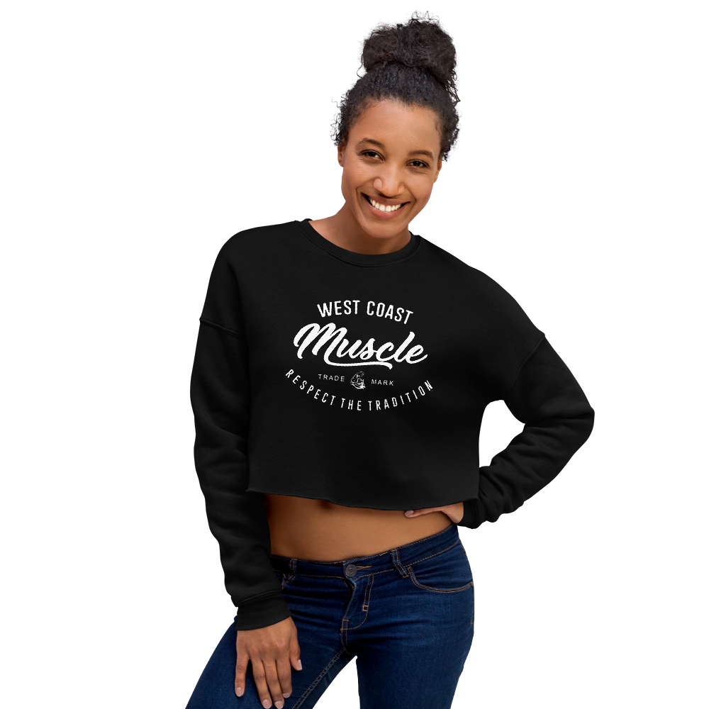 WEST COAST MUSCLE AUTHORITY Women's Fleece Crop Sweatshirt