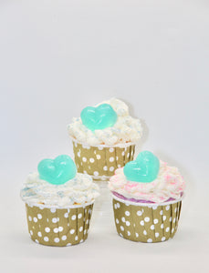 Set of 12 Mini Cupcakes Soap Bath Bombs