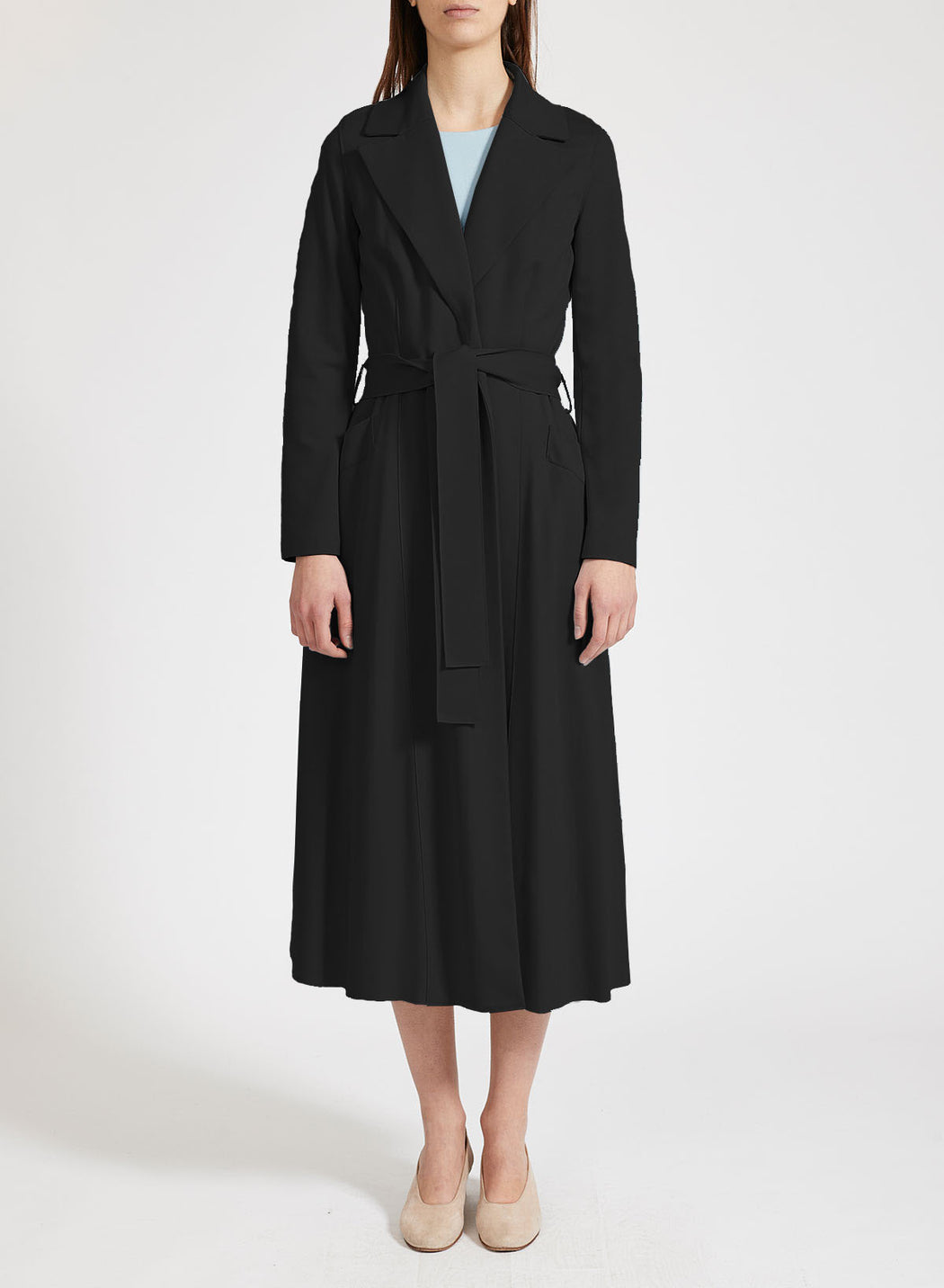 Woman long duster coat Light Viscose