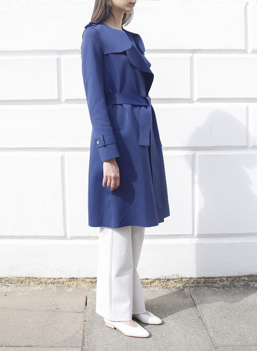 Women round neck trench Technic