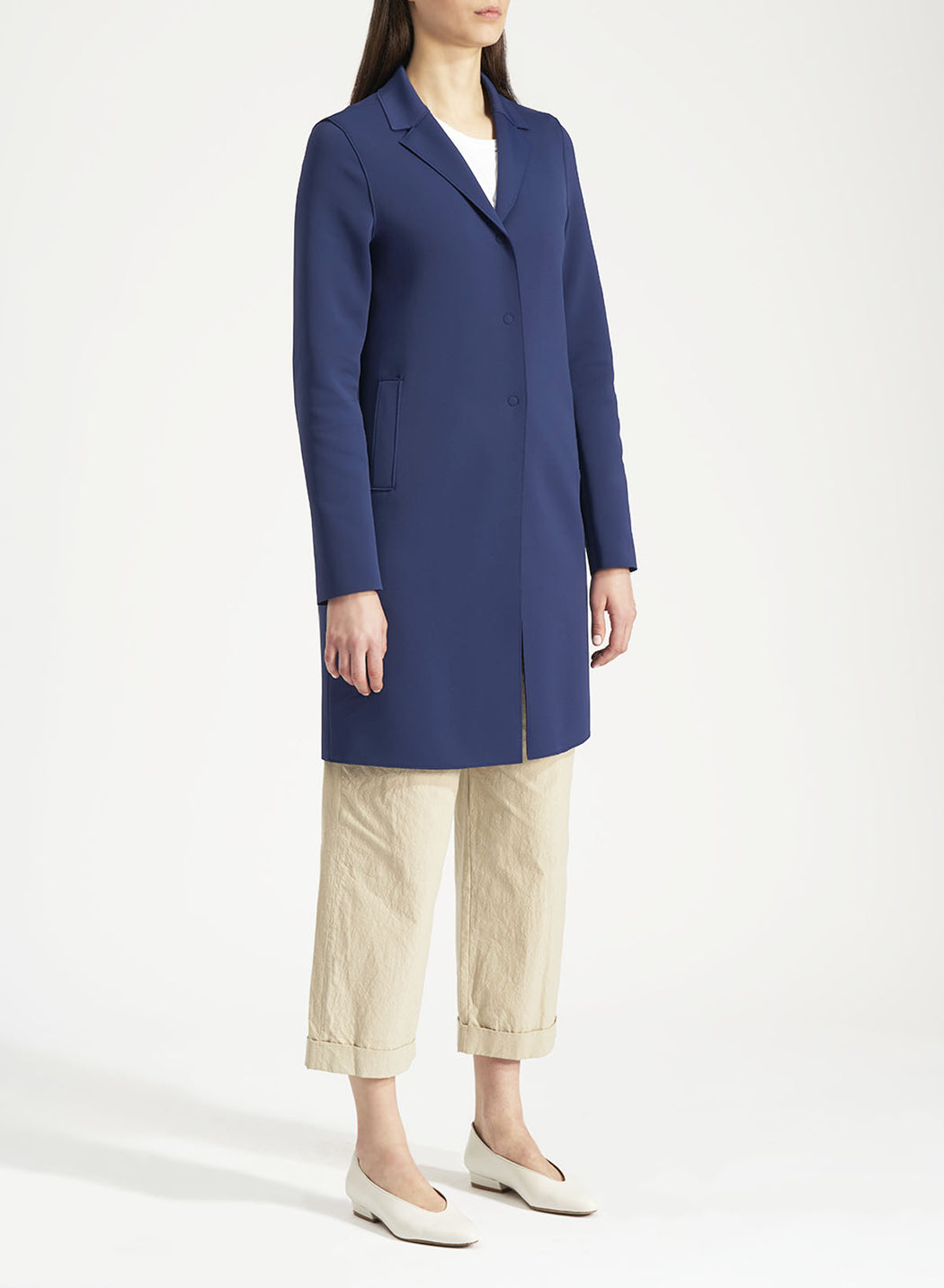 Harris Wharf London Women boxy coat Technic