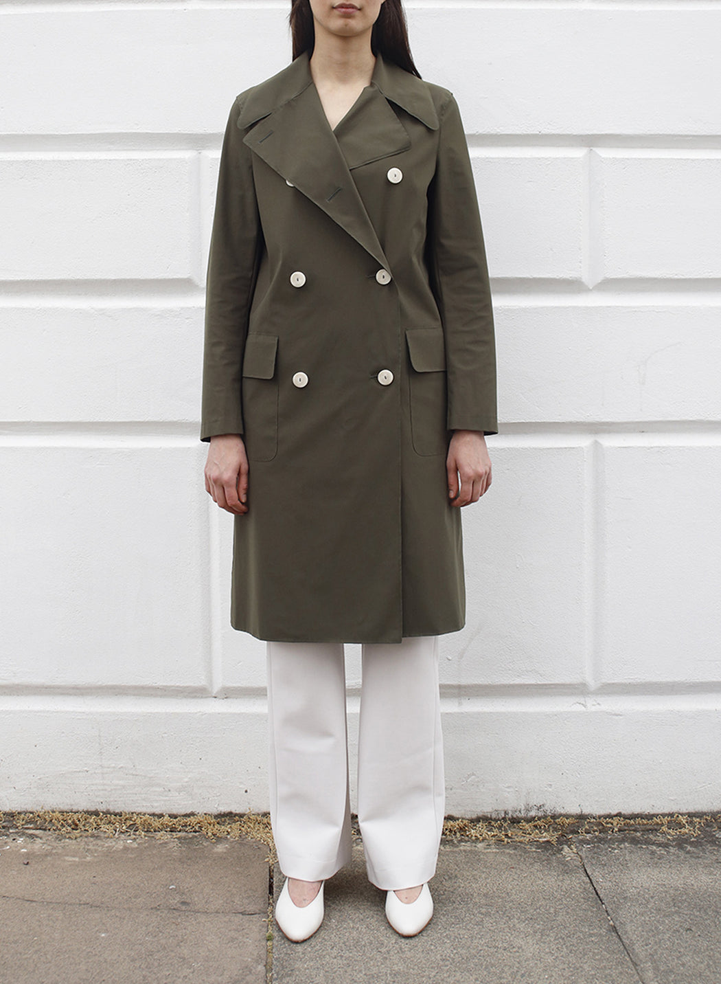 Women d.b. military coat Light Technic
