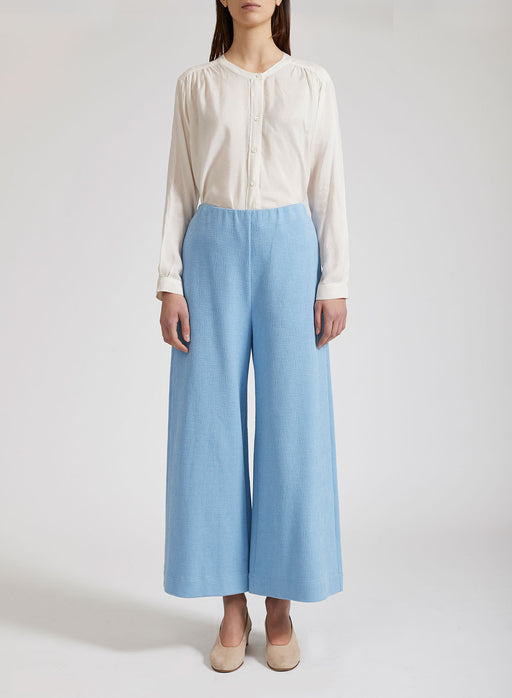Women wide-leg cropped trousers Canvas