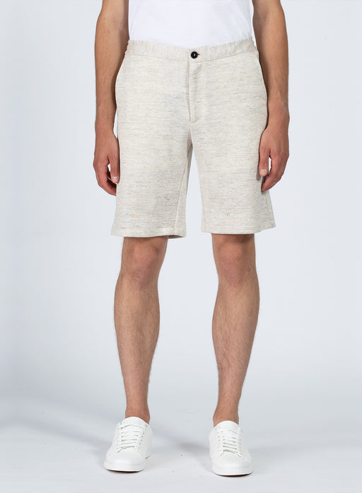 Men drawstring shorts Linen Jaspè