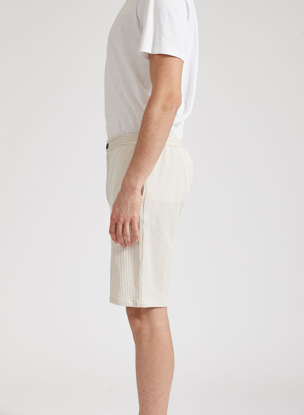 Men drawstring shorts Seersucker