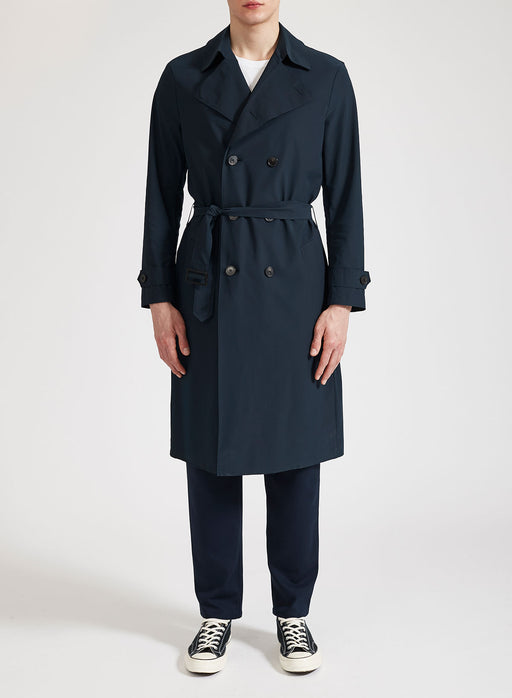Men double-breasted trench coat Light Technic