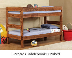 Saddlebrook Bunk Bed with Crayon Twin Bunkies