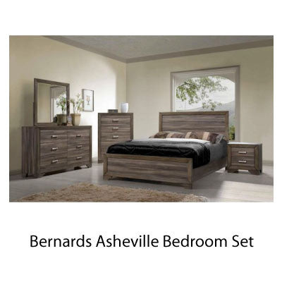 Bernards Asheville Bedroom Set with Pillowtop Mattress and Boxspring