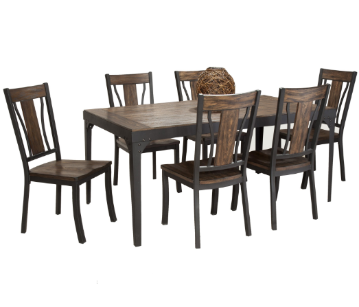 Bernards Hollister 7pc Dining Table