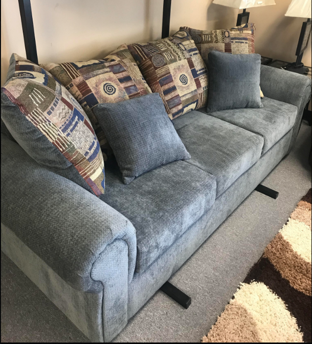 Bernards Blue Factory Select Sofa & Love seat