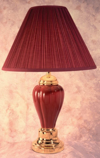 Bernards Burgundy Table Lamps
