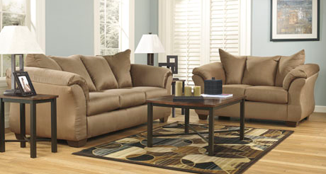 Ashley Mocha Darcy Sofa And Love Seat