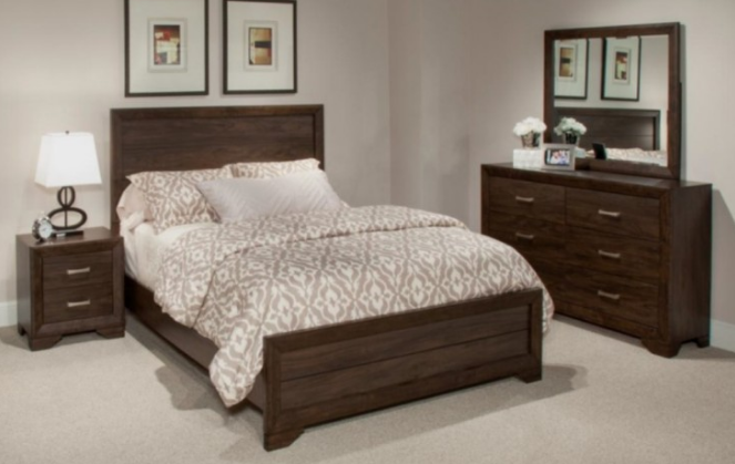 Bernards Dark Mango Bedroom Set