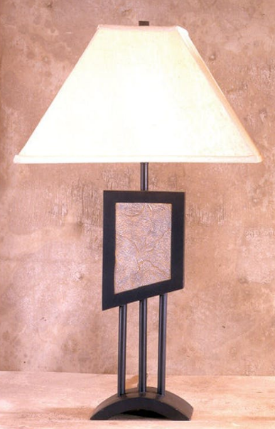 Bernards Metal And Tile Table Lamps