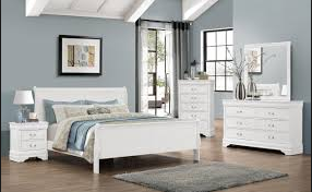 Bernards White Sleigh Bed With Mattress And Box spring