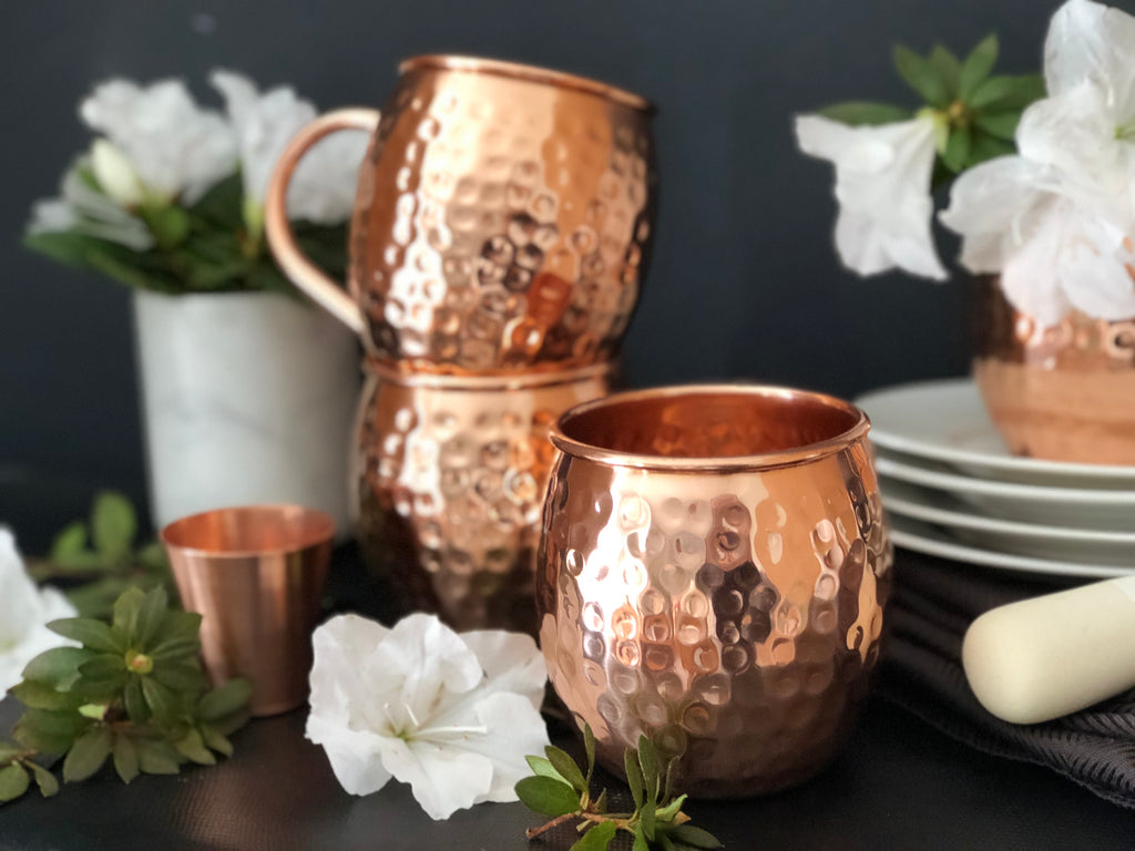 Urban Vintage LA Hammered Copper Mugs Cleaning Instructions To Remove Tarnish or Copper Patina
