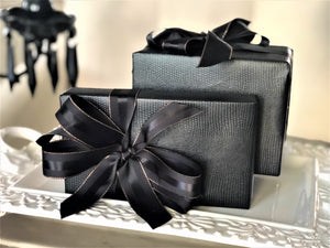 Urban Vintage LA Black Faux Leather Gift Wrap Paper