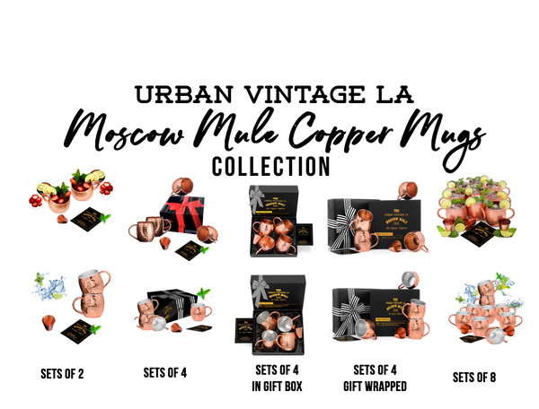 Urban Vintage LA Moscow Mule Copper Mugs Collection