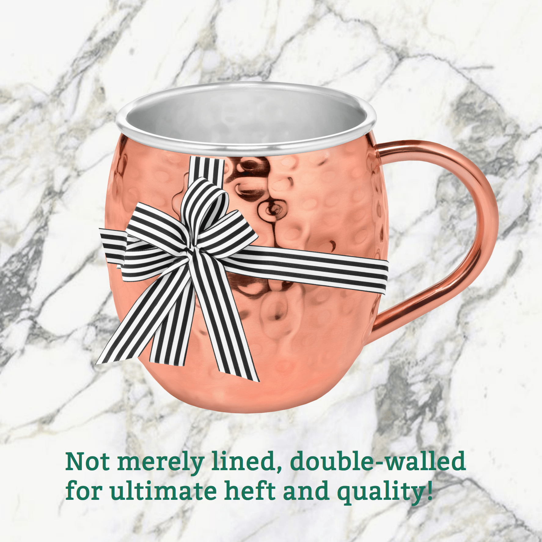 Urban Vintage LA Lined Stainless-Steel And Copper Double Wall Moscow Mule Mug