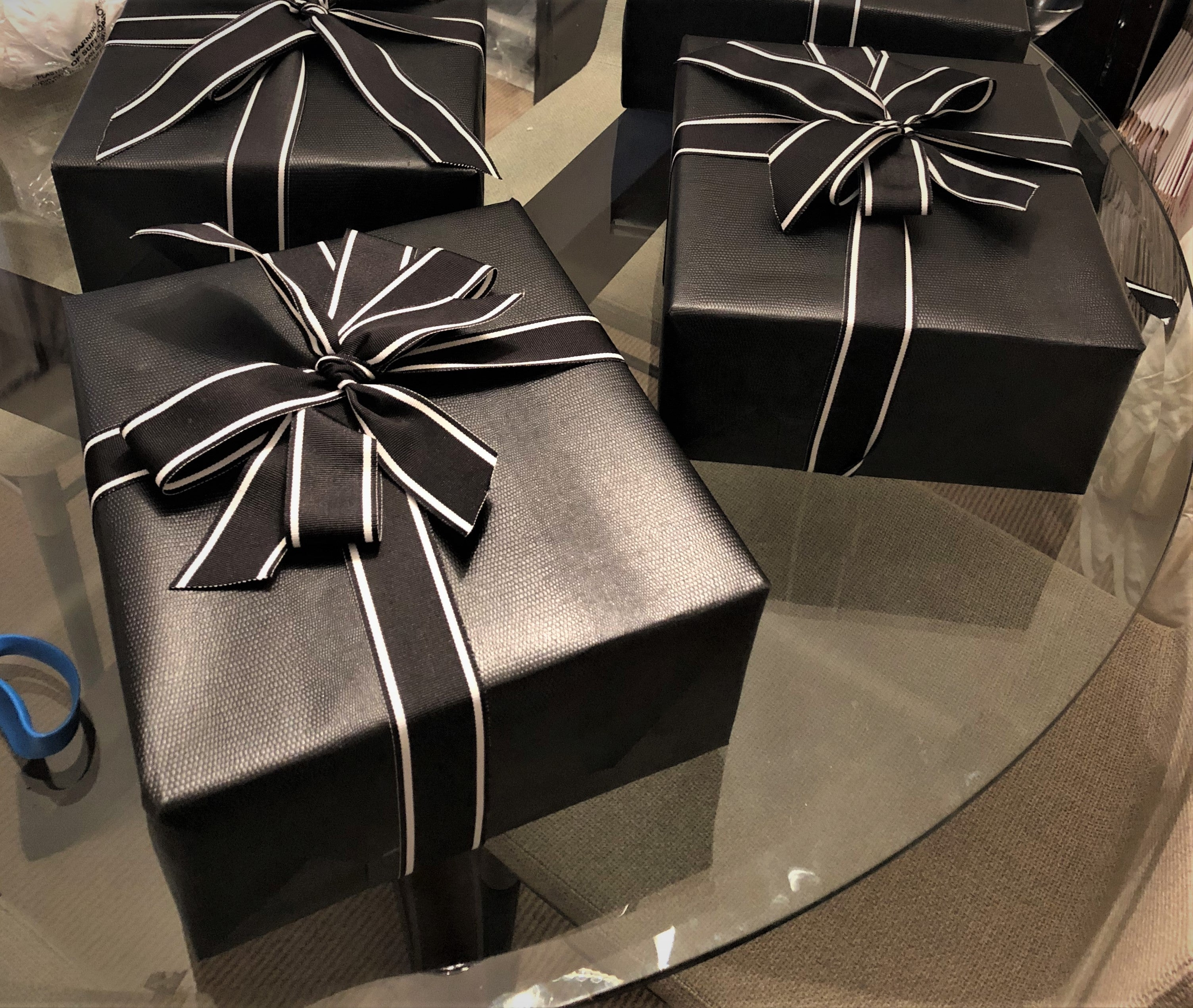 Fake Leather Gift Wrapping Paper by Urban Vintage LA