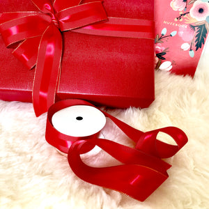 Urban Vintage LA Red Faux Leather Gift Wrap Paper