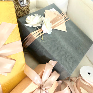Gray Faux Leather Gift Wrap Paper by Urban Vintage LA with Other Gifts