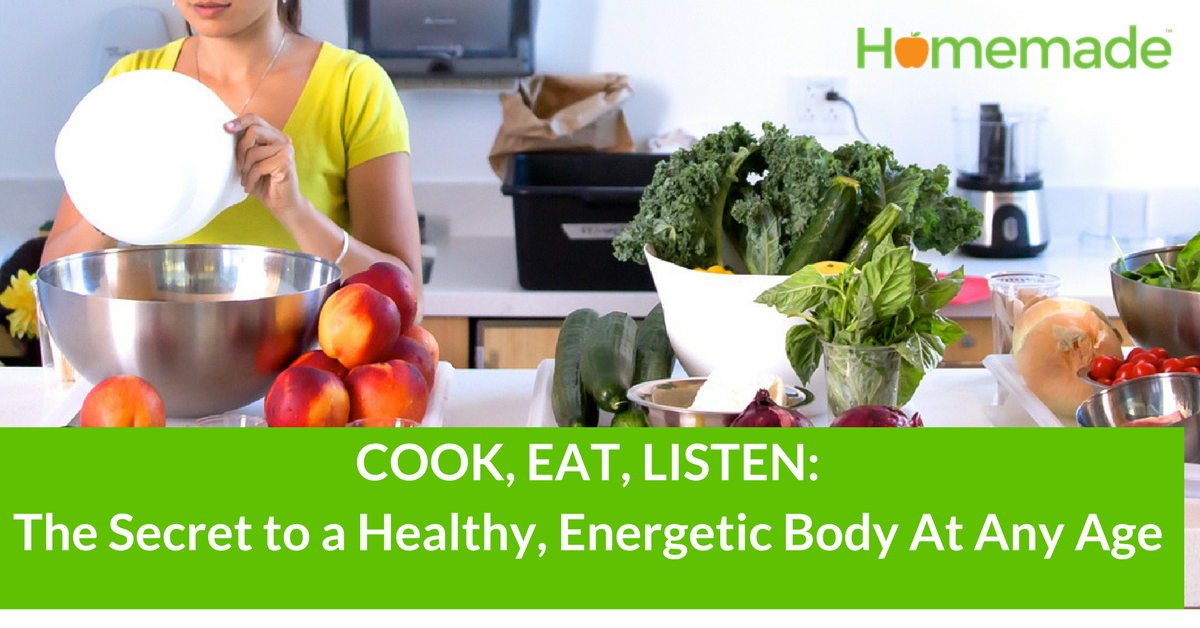 E-Book: COOK, EAT, LISTEN: The Secret to a Healthy, Energetic Body - WITHOUT DIETING