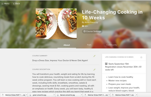 Life-Changing Cooking in 12-Weeks (Go-Getter Package)