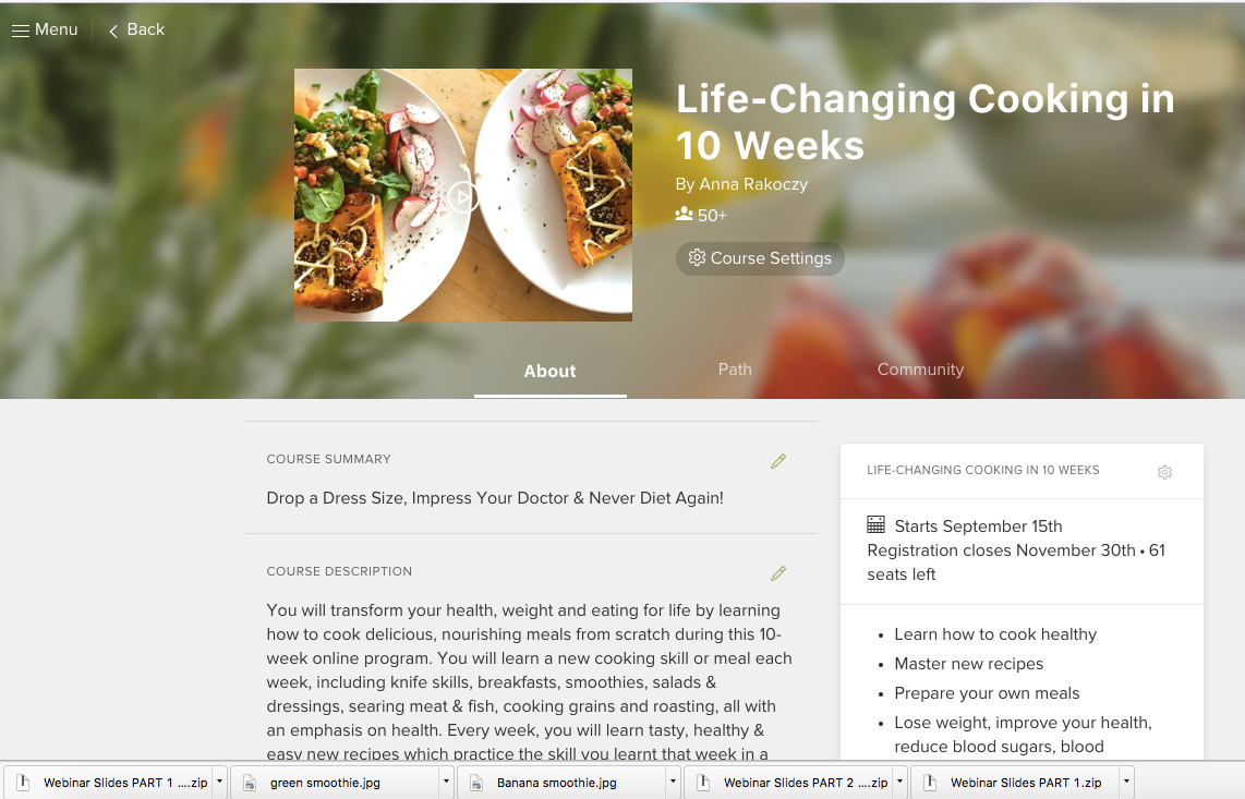 Life-Changing Cooking in 12-Weeks (with Weekly Online Coaching)
