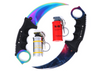Fine made Karambit Elite Fade knife, quality Karambit Elite black peal blade, firm incendiary grenade, realistic looking smoke grenade. Counter strike replicas