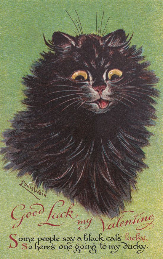 Victorian Valentines (and more)  from the mind of Louis Wain… the cat-obsessed artist.