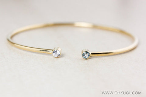 OhKuol Dual Birthstone Bangle