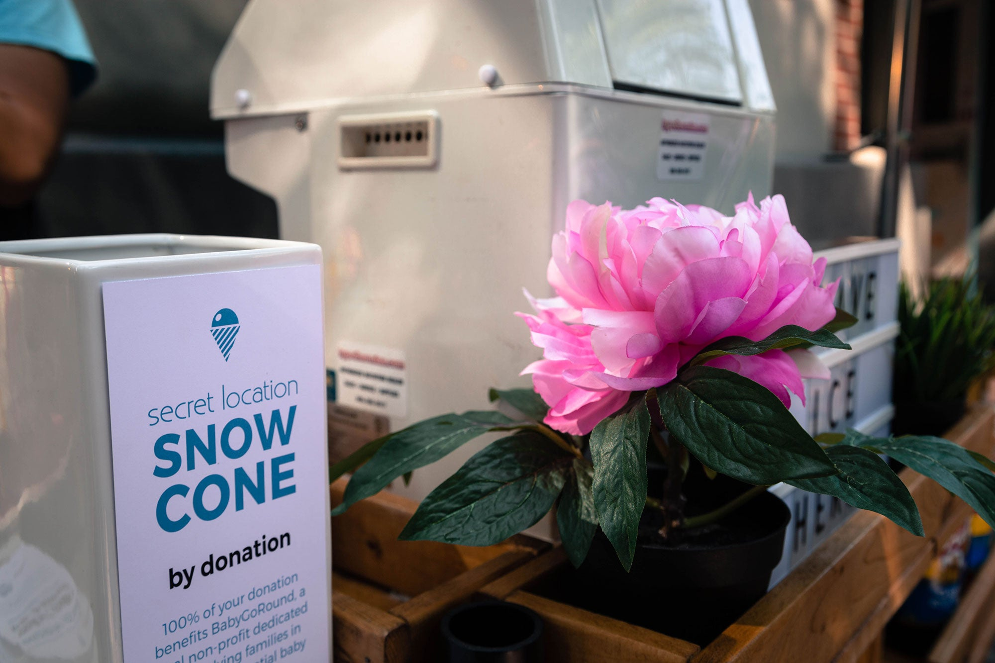 Snow Cone Day at Secret Location