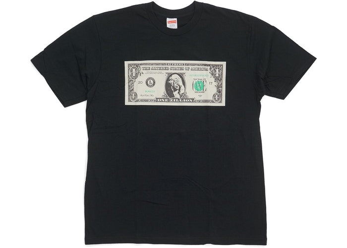 supreme dollar shirt in black