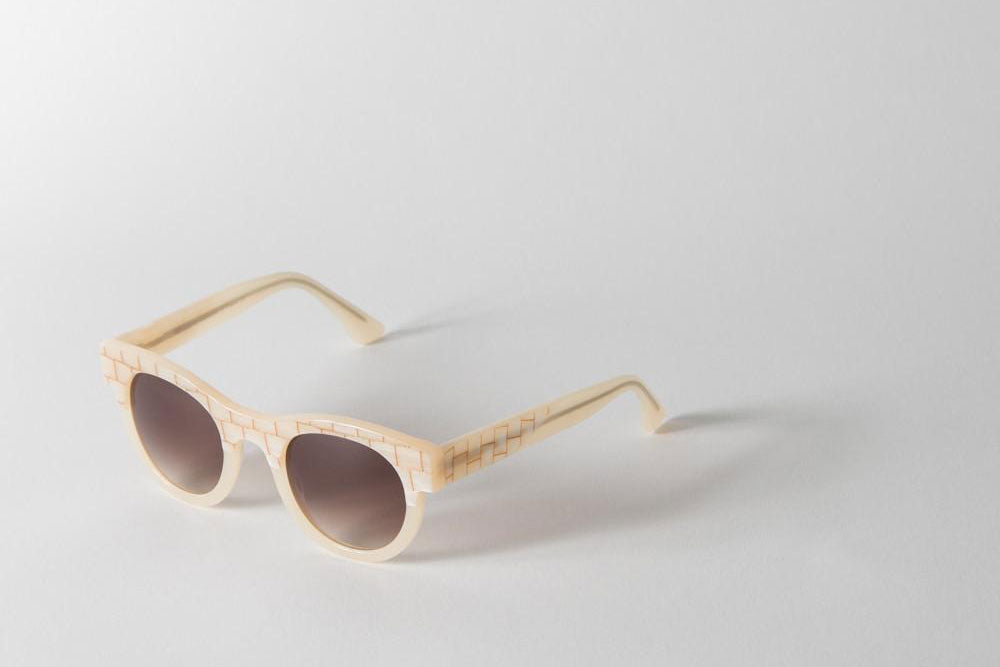 beige sunglasses by Thierry Lasry